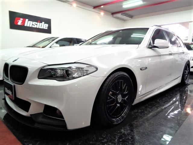 BMW 523ツーリングMスポパフォーマンス仕様黒革ナビTV19AW