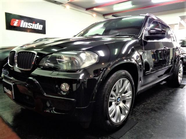 BMW X5 xDrive 30i Mスポーツパッケージ 後期3.0直6エンジン6速シフトマチックMスポーツエアロオーバーフェンダーMスポーツAW黒革インテリアIドライブナビバックカメラクリアランスソナーPシートシートHクルコンミラーETCスマートキー