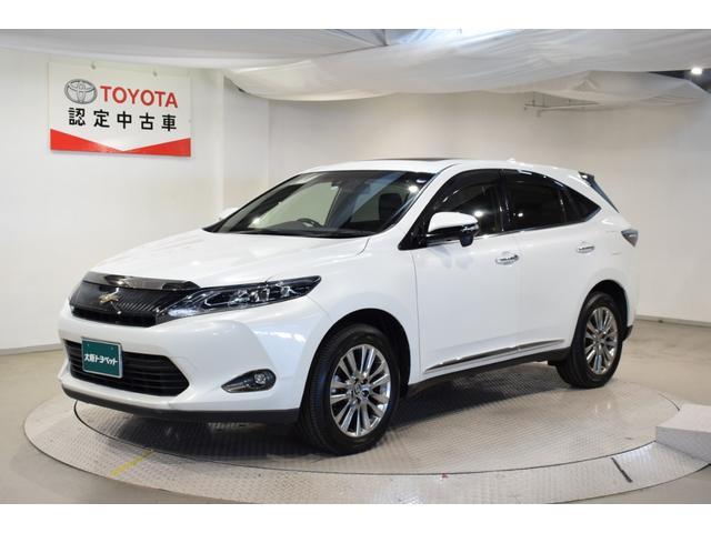 トヨタ ハリアーハイブリッド プレミアム トヨタ認定車 HDDナビ 本革シート サンルーフ