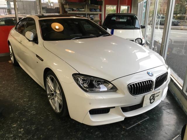 BMW 640iグランクーペMスポーツ 黒革/SR/20AW/1オナ