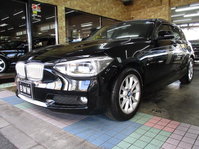 BMW 1シリーズ 116i スタイル ハーフレザーシート プッシュスタート アイドリングストップ HDDナビ iドライブ キセノンヘッドライト 16インチアルミ ランフラットタイヤ ETC