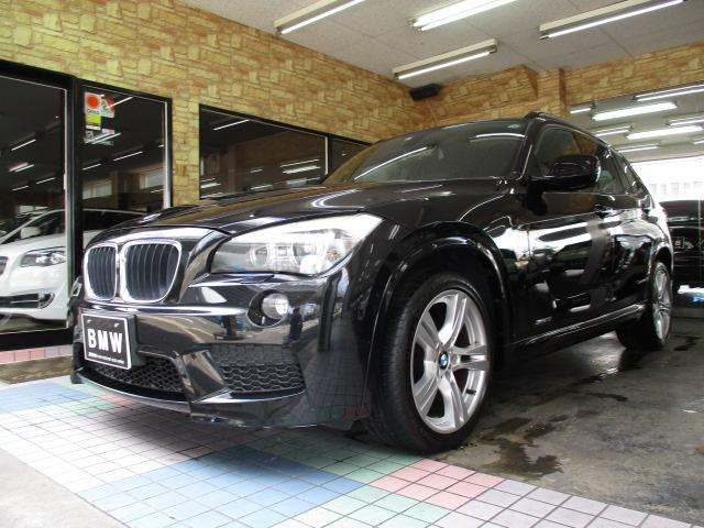 BMW X1 sDrive 18i Mスポーツパッケージ ディーラー記録簿 パナソニックナビ・TV・18インチアルミ・ランフラットタイヤ・コンフォートアクセス・キセノンヘッドライト・スペアキー・ミラー一体型ETC