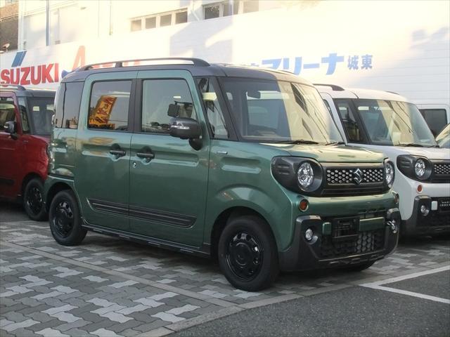 スズキ ハイブリッドXZ 全方位モニター 2トーンルーフ 軽自動車 スズキ保証 セーフティサポート
