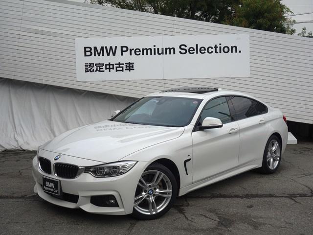 BMW 420iグランクーペ Mスポーツ 純正HDDナビ Buletoothオーディオ CD/DVD再生 バックカメラ ワンオーナー サンルーフ アクティブクルーズコントロール 純正18インチAW 電動リアゲート LEDヘッドライト