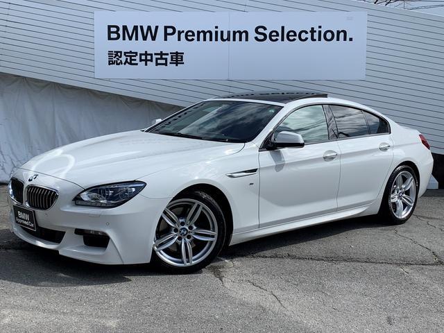BMW 6シリーズ 640iグランクーペ Mスポーツ ワンオーナー 純正HDDナビ バックカメラ 茶レザーシート シートヒーターサンルーフ 純正19インチAW アクティブクルーズコントロール パドルシフト ミラーETC LEDヘッドライト 認定保証