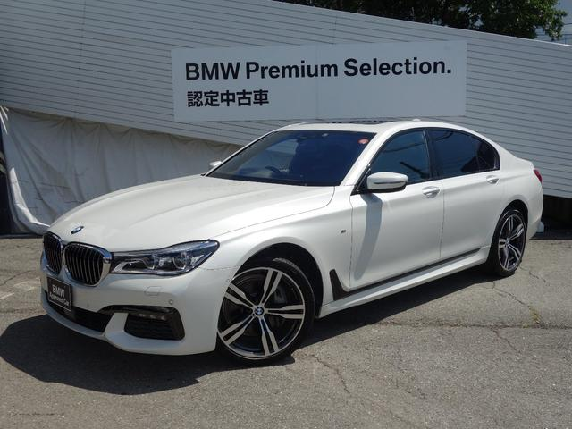 BMW 7シリーズ 740i Mスポーツ レーザーライト 20インチアルミ サンルーフ ブラックレザーシート マッサージシート ベンチレーションシート シートヒーティング HDDナビ地デジ 全周囲カメラ 電動トランク レーンコントロールA