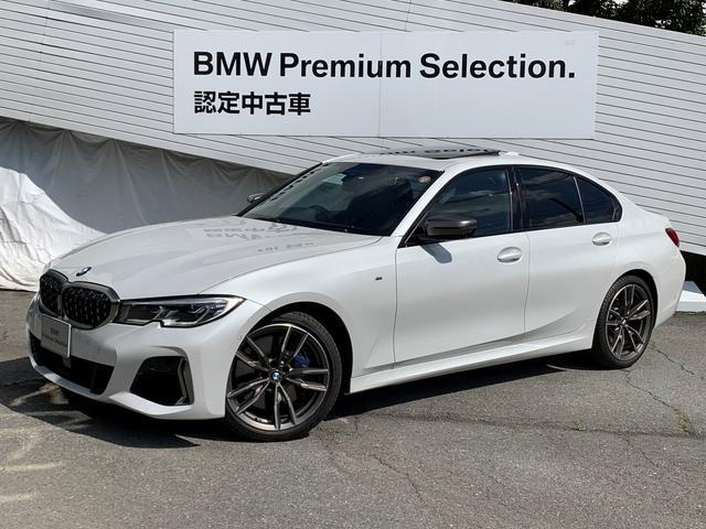 BMW M340i xDrive ワンオーナ- サンルーフ レーザーライト ハーマンカードン 黒レザーシート シートヒーター ヘッドアップディスプレイ アクティブクルーズコントロール 電動シート 純正19インチAW 認定保証