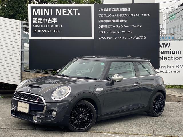 MINI クーパーS MT車輛 社外バックカメラ ブラックルーフ 防眩ミラー オートエアコン オートライト クルーズコントロール 純正アロイホイール Bluetooth接続 認定保証