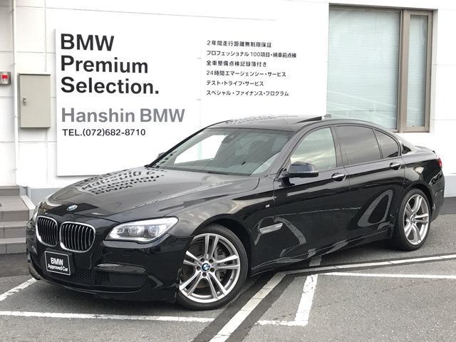 BMW 740i全国認定保証左ハンドルSR黒革OP20AW・F01