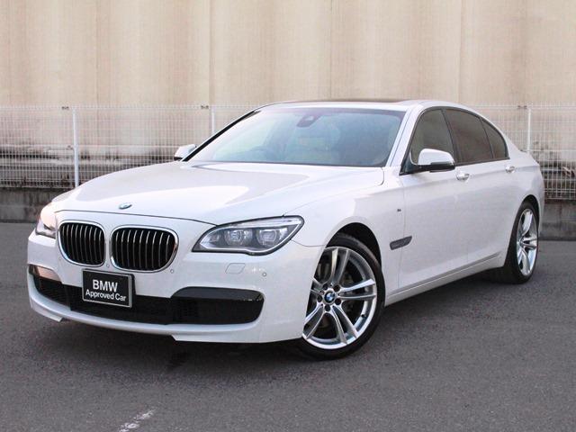 BMW 740iMスポーツ認定保証新型iドライブベージュ革SR1オナ