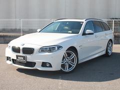 BMW528iツーリング Mスポーツ認定保証SRオイスター革1オナ