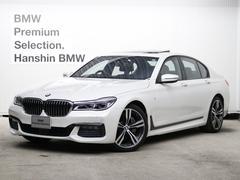 BMW740i Mスポーツ認定保証元デモカーリモートP20AW黒革