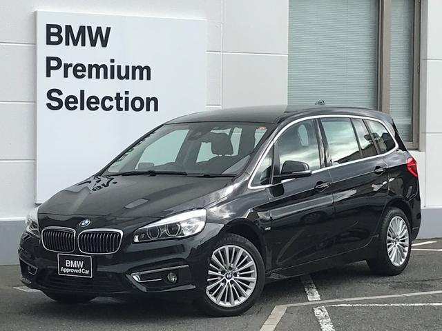 BMW 218dグランツアラー ラグジュアリー アクティブクルーズコントロール・ヘッドアップディスプレイ・ブレーキ軽減システム・レーンディパチャーウォーニング・SOSコール・ブラックレザー・シートヒーター・電動シート・コンフォートパッケージ・LED