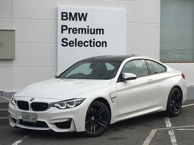 BMW M4 M4クーペ 後期型・アダプティブMサスペンション・ハーマンカードン・ブラックレザー・シートヒーター・純正HDDナビ・バックカメラ・カーボンルーフ・ヘッドアップディスプレイ・LEDヘッドライト・ETC・バックカメラ