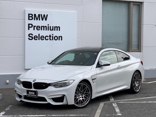 BMW M4 M4クーペ コンペティション 450馬力・アダプティブLED・ブラックキドニー専用20インチAW・カーボンルーフ・専用スポーツシート・アダプティブMサスペンション・直列6気筒エンジン・Mベルト・シートヒーター・地デジ・HDDナビ