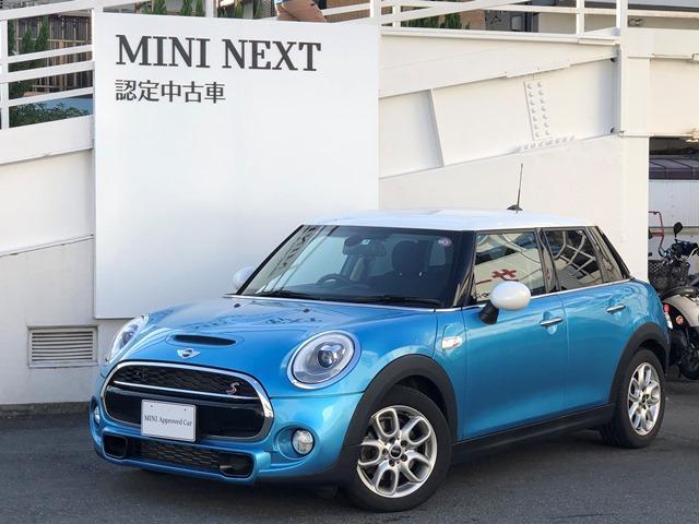 MINI クーパーS ・認定保証・バックカメラ・ミラーETC・純正HDDナビ・LEDヘッドライト・純正アルミ・オートライト・ホワイトルーフ・ホワイトミラーキャップ・スポーツシート・ Bluetooth接続可能・F55
