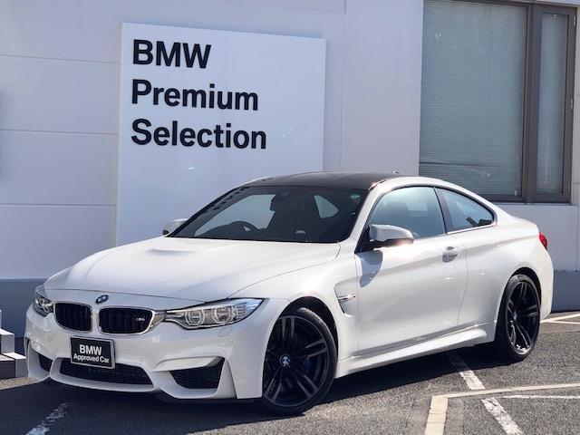 BMW M4 M4クーペ カーボンインテリア・純HDDナビ・LEDヘッドライト・ブレーキ軽減・レーンチェンジウォーニング・SOSコール・レーンディパチャーウォーニング・バックカメラ・PDCセンサー・黒革・シートヒーター・LED