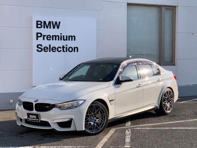 BMW M3 コンペティション・セラミックカーボンブレーキ・Mベルト・専用鍛造20AW・専用スポーツシート・アダプティブLED・アダプティブMサスペンション・純正HDDナビ・ミラー内臓ETC・シートヒーター・F80