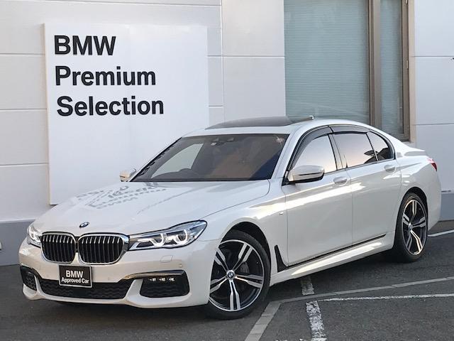 BMW 740d xDrive Mスポーツ ・アクティブクルーズコントロール・LEDヘッドライト・電動トランク・純正アルミホイール・コニャックレザー・シートヒーター・パワーシート・純正ナビ・ミュージックサーバー・ヘッドアップディスプレイ・G11