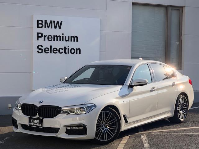 BMW 523d Mスポーツ デビューパッケージ・ソフトクローズドア・ジェスチャーコントロール・ブラックレザー・シートヒーター・ヘッドアップディスプレイ・オートトランク・ミラー内蔵ETC・アクティブクルーズコントロール・Dアシスト