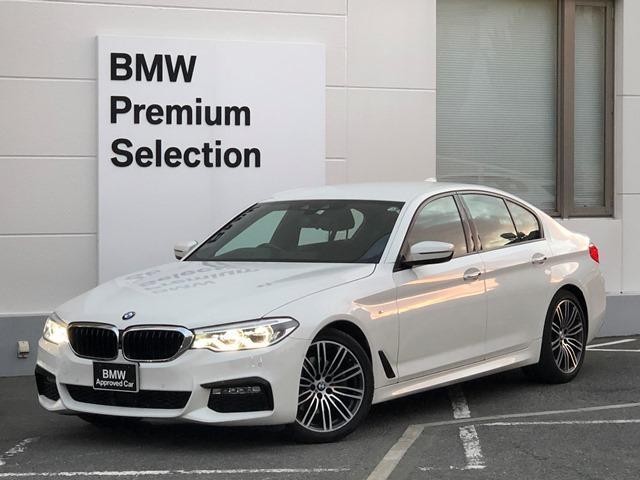 BMW 523i Mスポーツ ・弊社元デモカー・認定保証・イノベーションパッケージ・レーンキープ・ACC・LEDライト・衝突軽減ブレーキ・レーンチェンジウォーニング・ミラーETC・フルセグTV・電動リアゲート・電動シート・G30