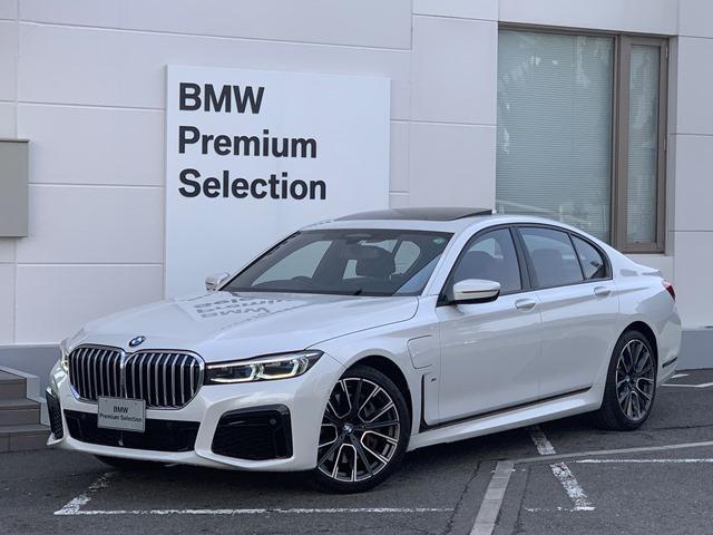 BMW 745e Mスポーツ 後期モデル・直列6気筒エンジン・ブラックレザー・フロントシートヒーター・ベンチレーションシート・純正HDDナビ・純正20インチAW・地デジTV・全周囲カメラ・ハーマンカードン・レーザーライト・G11