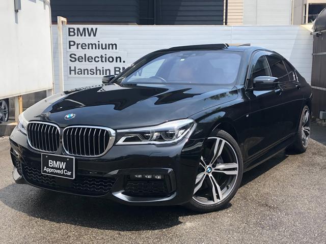 BMW 740i Mスポーツ ・サンルーフ・アロマデュフーザー・LEDヘッド・ブレーキ軽減システム・レーンディパチャーウォーニング・レーンチェンジウォーニング・SOS・オートトランク・地デジ・全周囲カメラ・オプション20インチAW