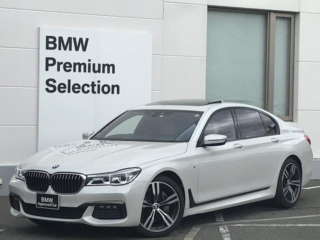 BMW 740i Mスポーツ ・アイボリーレザー・レーザーライト・ソフトクローズドア・サンルーフ・マッサージシート・シートエアコン・アクティブクルーズコントロール・ヘッドアップディスプレイ・ハーマンカードンスピーカー・トップビュー