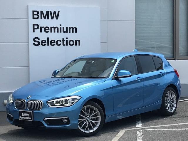 BMW 118i ファッショニスタ ・アクティブクルーズコントロール・LEDヘッドライト・レーンディーバチャーウォーニング・オイスターレザー・シートヒーター・純正アルミホイール・純正HDDナビ・ミュージックサーバー・ミラーETC・F20