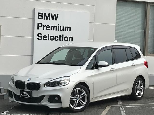 BMW 218dグランツアラー Mスポーツ ・パーキングサポート・コンフォートアクセス・電動リアゲート・バックカメラ・前後PDCセンサー・アイドリングストップ・インテリジェントセーフティー・パドルシフト・純正HDDナビ・LEDヘッドライト・CD