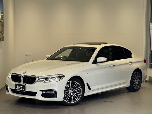 BMW 5シリーズ 530i Mスポーツ サンルーフ・ハーマンカードンスピーカー・純HDDナビ・バックカメラ・全周囲カメラ・PDCセンサー・オートトランク・LEDヘッドライト・黒革・アクティブクルーズコントロール・地デジ・ミラーETC・G30