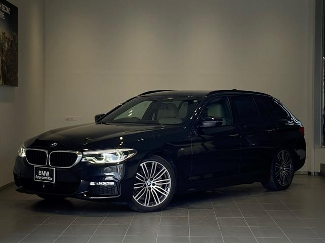BMW 5シリーズ 523iツーリング Mスポーツ ハイラインパッケージ ランバーサポート キャンベラベージュレザー 全席シートヒーター 全周囲カメラ オートトランク LEDヘッドライト ACC 衝突軽減ブレーキ 純正19インチAW