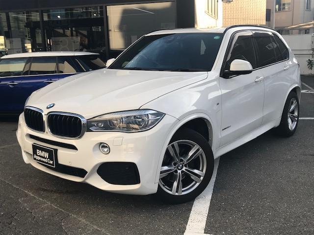 BMW X5 xDrive 35d Mスポーツ ・アクティブクルーズコントロール・コンフォートアクセス・LEDヘッドライト・サードロシート・アダプティブLEDヘッドライト・サンルーフ・電動トランク・シートヒーター・地デジ・純正HDDナビ・F15・