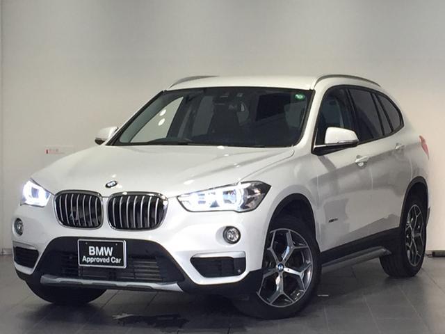 BMW X1 xDrive 18d xライン ワンオーナー ヘッドアップディスプレイ アクティブクルーズコントロール 衝突被害軽減ブレーキ 歩行者警告 純正HDDナビ Bluetooth ミュージックサーバ LEDヘッドライト