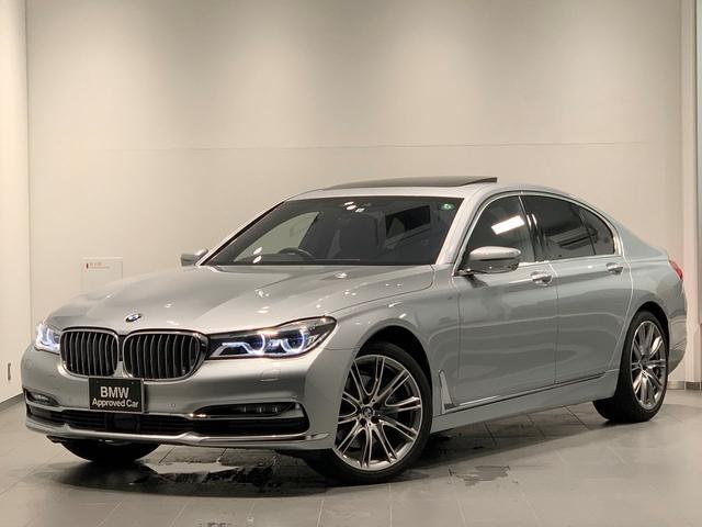 BMW 740d xDrive エクセレンス 電動ガラスサンルーフ・ブラックレザーシート・ハーマンカードンスピーカー・電動リアゲート・ソフトクローズドア・ドライビングアシストプラス・レーザーライト全周囲カメラ・純正HDDナビ20インチAWG11