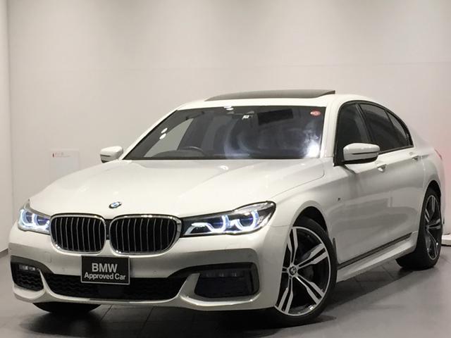BMW 750i Mスポーツ ワンオーナー ガラスサンルーフ 黒レザー・シートヒーター ベンチレーション マッサージシート ハーマンカードンスピーカーシステム 純正HDDナビ・フルセグ ヘッドアップディスプレイ Bluetooth