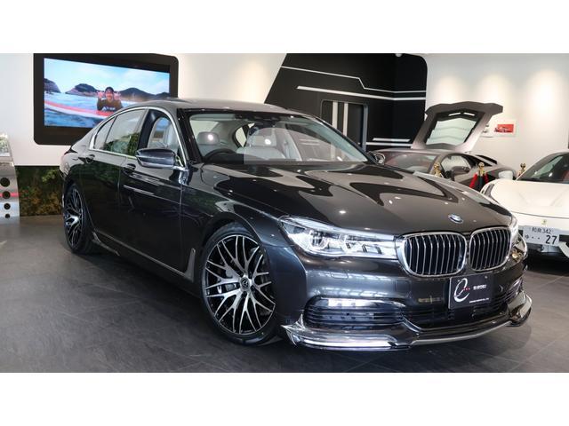 BMW 740i エナジーコンプリートカーEVO G11.1 マルチファンクションレザーステアリング・ウッドトリム付 クライメートコンフォートガラス 電動ガラスサンルーフ ヘッドアップディスプレイ ディーラー点検記録簿