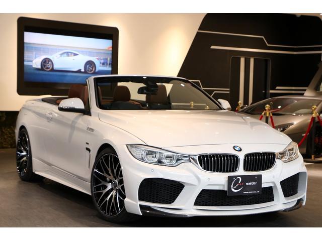 BMW 435iカブリオレ ラグジュアリー エナジーコンプリートカーEVO33.1 純正LEDヘッドライト サドルブラウンレザーシート ヘッドアップディスプレイ ACC 衝突軽減 車線逸脱 EVO33.1専用カーボンリップスポイラー スペアキー