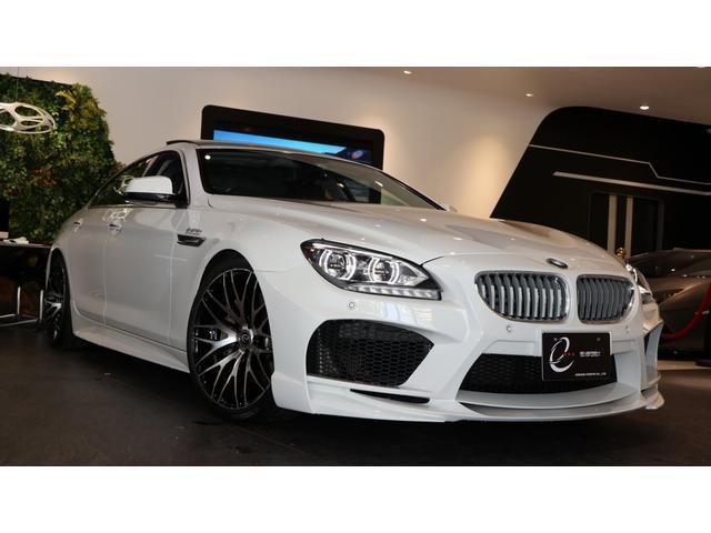 BMW 650iグランクーペ コンフォートパッケージ Fコンフォートシート Fベンチレーションシート Rシートヒーター ガラスサンルーフ EVO06.1専用オプション センターバー スポーツスプリング ヘッドアップディスプレイ