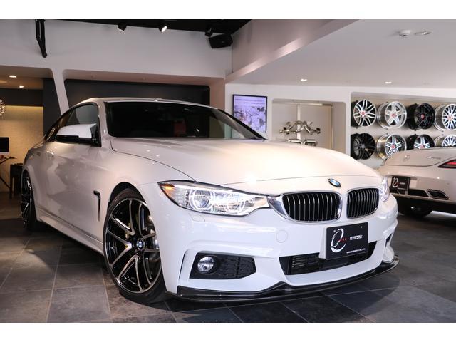 BMW 420iクーペ Mスポーツ 1オーナー 3Dデザイン・フロントリップ&サイドスカート&リアディフューザー&車高調&マフラー&ブースターチップ レカロシート Mパフォーマンス・ブレーキシステム&インパネ&ステアリング 地デジ
