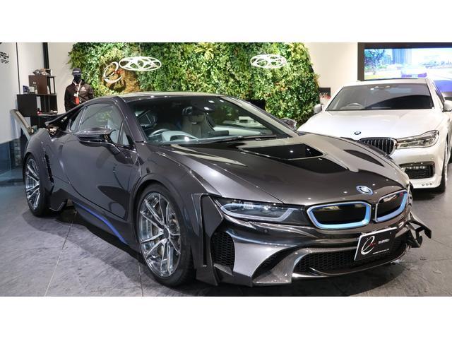 BMW i8 ベースグレード エナジーコンプリートカーEVO i8 カーボンエディション ピュアインパルスパッケージ 管理ユーザー下取車 エナジー鍛造20インチAW カーボンインテリア 地デジTV ドラレコ レーダー スロコン