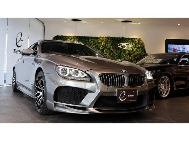 BMW 640iグランクーペ エナジーコンプリートカーEVO06.1 車検R3年12月 ブラックレザーシート クルーズコントロール エナジー20インチAW 専用オプション フロントセンターバー トランクスポイラー スペアキー有