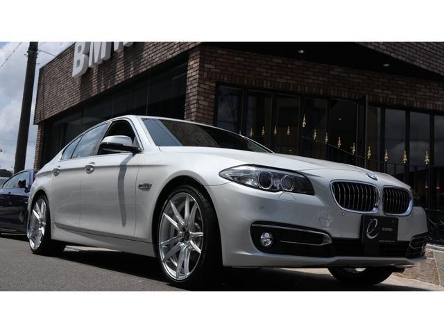 BMW 5シリーズ 523iラグジュアリー 1オーナー 新品エナジー20インチ&タイヤ アクティブクルーズコントロール レーンディパーチャーウォーニング レーンチェンジウォーニング インテリジェントセーフティー 地デジ Bカメラ ブラックレザー