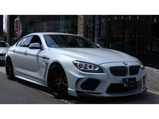 BMW 6シリーズ 640iグランクーペ エナジーコンプリートカーEVO06.1 ユーザー下取 可変バルブ付マフラー EVO06.1専用カーボンパーツ ソフトクローズドドア キャリパーペイント ブラウンレザーシート 新品エナジー20インチAW