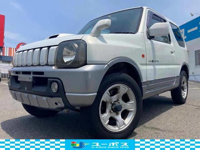 スズキ ジムニー ランドベンチャー 4WD/ターボ/AT車/F席ハーフレザーシート/背面タイヤ/純正16インチアルミホイル