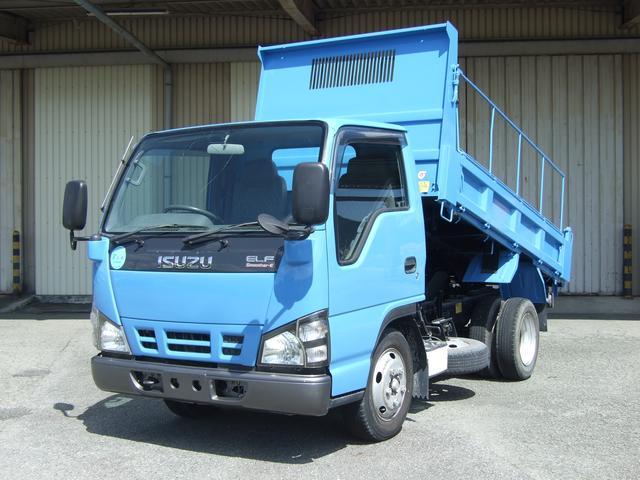 いすゞ エルフトラック 強化フルフラットローダンプ スムーサーE 2ペダル