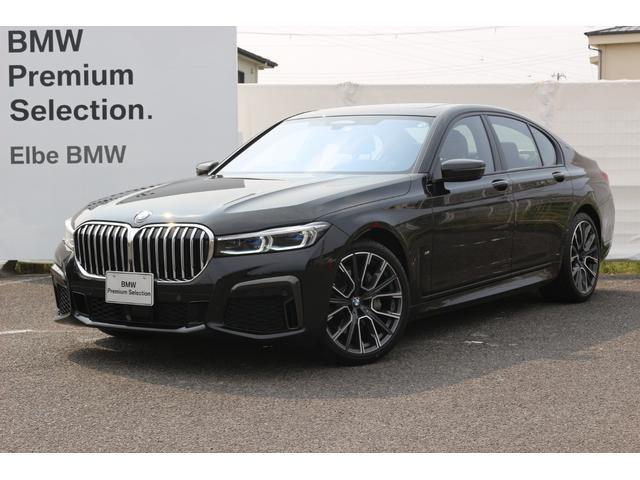 BMW 740i Mスポーツ 黒レザー/アラームシステム/マッサージシート/サンルーフ/レーザーライト/ACC/トップビュー/リバースアシスト/デモカー/20AW