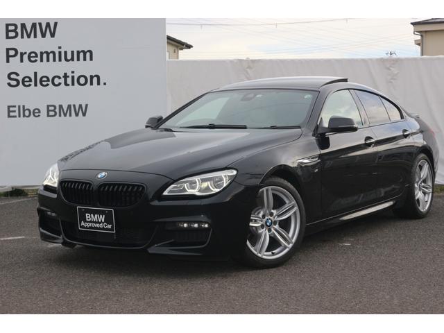 BMW 6シリーズ 640iグランクーペ Mスポーツ 弊社下取り車両 サンルーフ HUD ACC ベージュレザー ドラレコ シートヒーター ウッドパネル LEDライト ブラックキドニーグリル Rフィルム トランクスポイラー