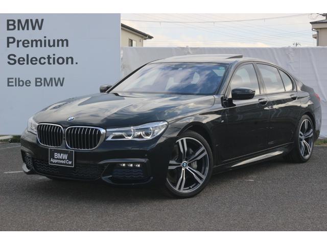 BMW 740d xDrive Mスポーツ ワンオーナー 禁煙車 メリノレザーダッシュ HUD レーザーライト ブラックレザー 20インチAW コンフォートシート ハーマンカードン ブラックウッド ソフトクローズ
