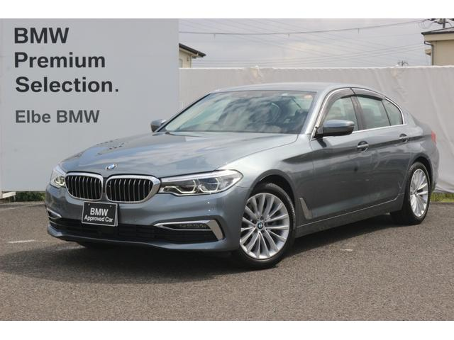 BMW 523d ラグジュアリー ワンオーナー 禁煙車 弊社下取り HUD ランバーサポート 前後シートヒーター 黒レザー Fドラレコ ドアバイザー ACC